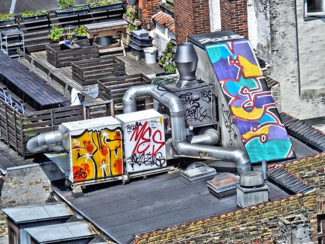 Architecture Art Built Structure Graffiti Machinery Art Multi Colored Outdoors