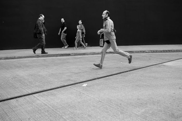 Adult Black And White Canon6d Cat Chicago Day New York People Running Running Late Sigma Sigma 35mm Art Sigmalens The Street Photographer - 2017 EyeEm Awards