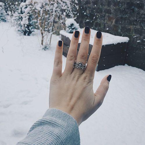 Snow for days Ring Pandora Nails Winter Snow First Eyeem Photo