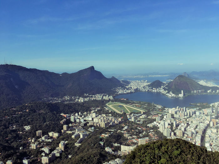 Rio de Janeiro sempre Lindo Architecture Sky Building Exterior Nature Scenics - Nature Cityscape Beauty In Nature Outdoors Mountain Environment City Built Structure No People Landscape High Angle View Plant Tree Residential District Mountain Range Building Blue TOWNSCAPE