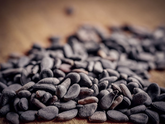 Large Group Of Objects Food And Drink Food Close-up Indoors  Table Still Life No People Selective Focus Freshness Brown Coffee - Drink Abundance Coffee Wood - Material Focus On Foreground Heap High Angle View Black Color Sesame Seed