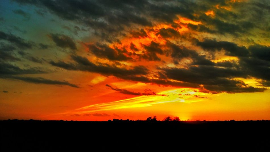 Beauty In Nature Nature Sunset Silhouette Orange Color Scenics Sky Cloud - Sky No People Tranquil Scene Tranquility Outdoors Landscape Beauty In Nature TakeoverContrast Pivitol Ideas EyeEm Best Shots EyeEm Best Shots - Nature Eye Em Nature Lover