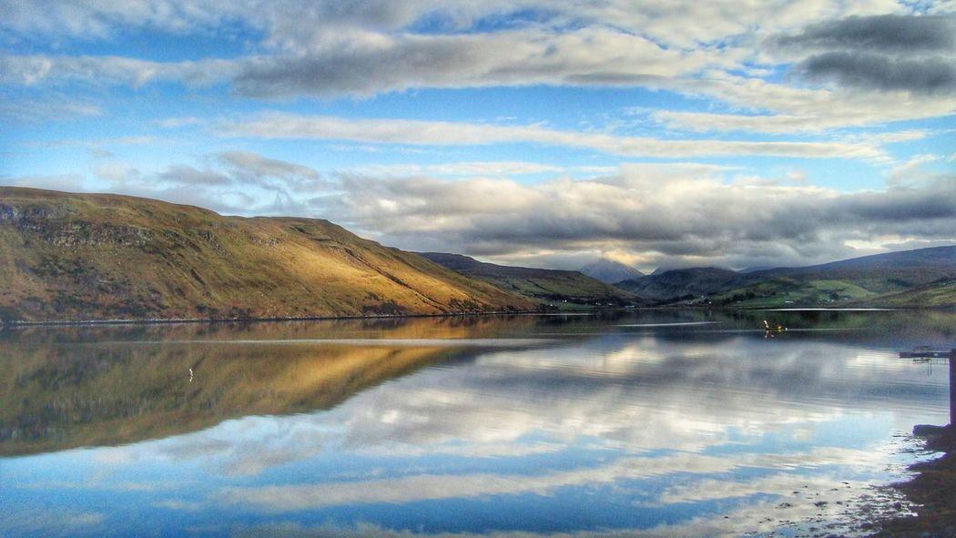 Loch Harport Loch Harport Loch  Carbost Isle Of Skye Scotland Lac Lake Reflection Tranquility Nature Landscape Reflection Lake Reflection_collection