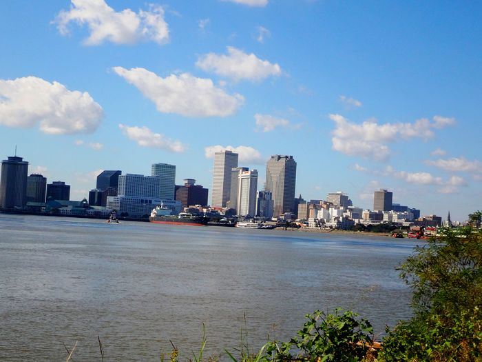 NOLA Cityscape New Orleans New Orleans, LA Mississippi River Crescent Park Muddy River Skyline City Life Cityscapes South Southern Life Missisippi River Mississippi River Bridge