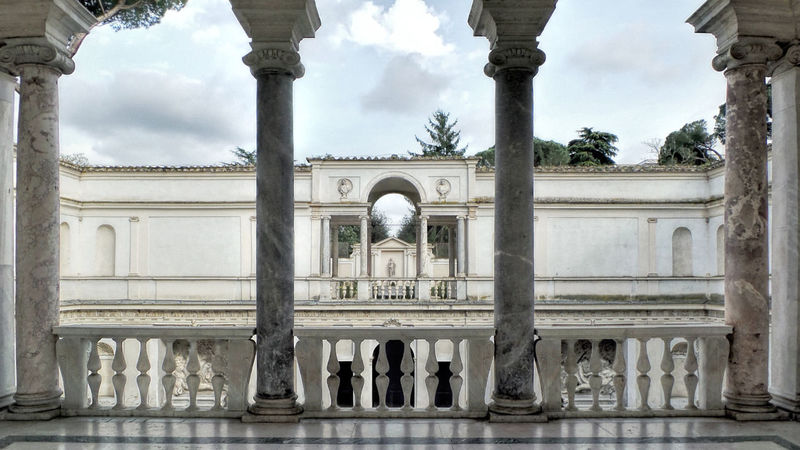 Travel Architecture Travel Destinations History VILLA GIULIA  Rome Italy🇮🇹 Columns Balcony History Building Marble Sculptures Arches