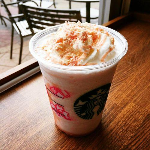 Sakura Late Frapuccino Yummy Yummy Starbucks Japan