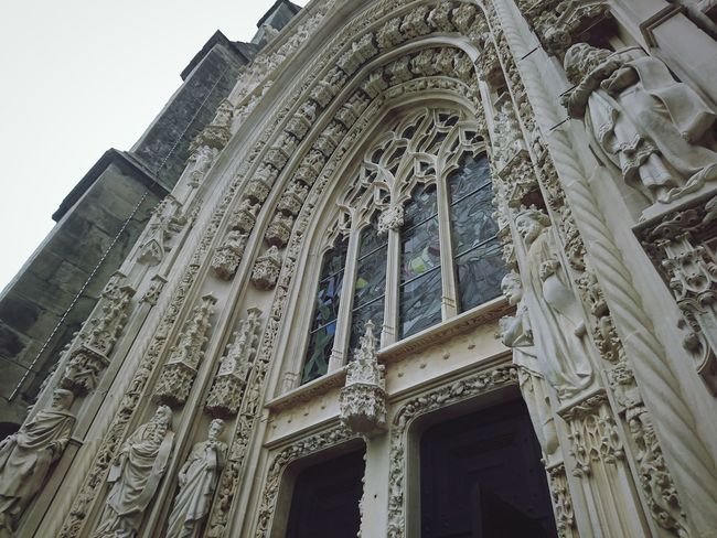 Architecture Low Angle View Built Structure Travel Destinations History Building Exterior Religion Place Of Worship Day No People Outdoors Sky Lausanne (CH) Cathédrale De Lausanne Cathedrals  Architectural Column Cathedrals  Cathedral Walls Arch Cathedrals  Architecture The Week On EyeEm EyeEmNewHere