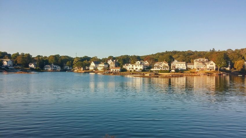 Water Tree Clear Sky Outdoors Nature No People Day Travel Destinations Sky Vacations Landscape Building Exterior Maine Boothbay Harbor Maine Tranquility Take Me Back