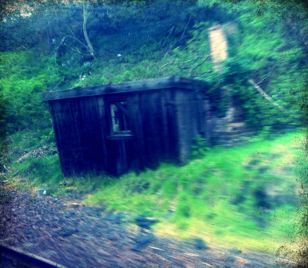 The Dilapidated Hut At The Entrance To The Station.