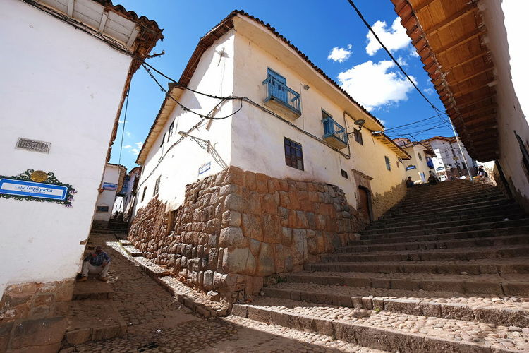 Streets of Cusco Cusco Cobblestone Building Town Blue Sky Exploring Streetphotography Laneway Sky Day No People Outdoors Architecture