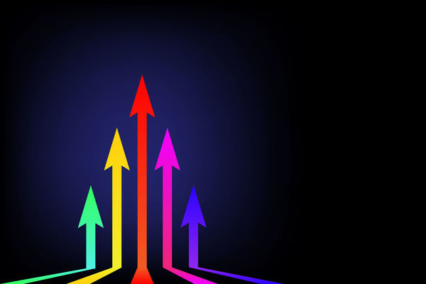Moving up colorful arrows on black background leader Business concept arrow rising up with free copy space for your text illustration Arrow Business Forward Graphic Growth Shape Target Chart Concept Creative Decoration Development Direction Finance Graph Investment Motion Move Progress Rising Success Template Up Upwards Wallpaper
