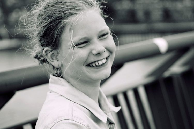 Close-Up Portrait Of Smiling Girl