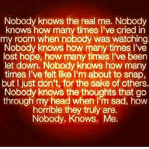 Nobody gets me WhetherImHappy or WhetherImMad if you cannot understand me then you might as well leave it be....