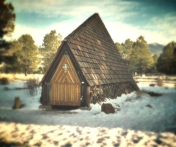 Miniature roadside church