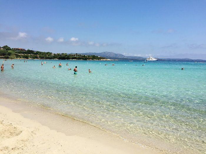 Portorotondo Italy Sardegna Water Sea Beach Land Sky Holiday Trip Vacations Beauty In Nature Swimming Sand Enjoyment