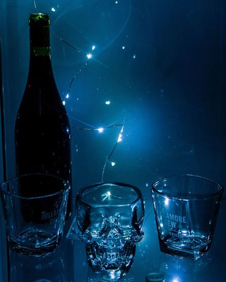 EyeEm Art Photography Shadow Followme Lights LED Wine Glass Skull Drink Alcohol Bottle Drinking Glass No People Close-up
