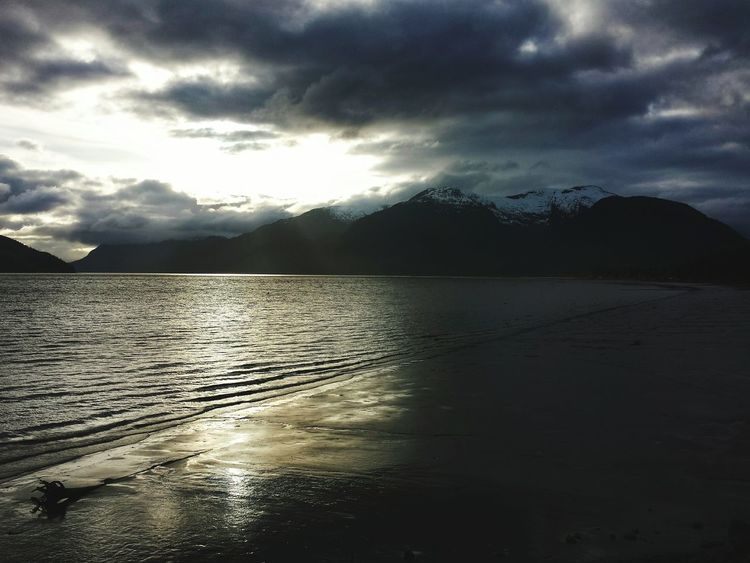 British Columbia Skeena River Overcast Overcast Skies Clouds And Sky Sunlight Contrast Dark Yingyang Ballance Landscape Showcase April