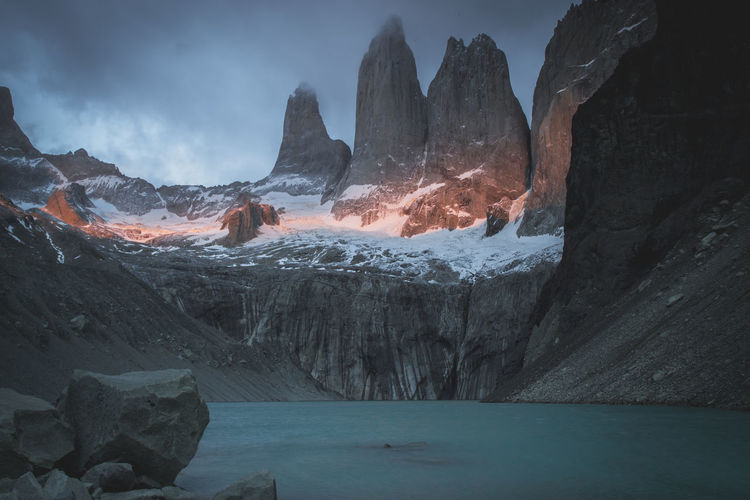 National Park Trekking Beauty In Nature Formation Geology Glacier Hikingadventures Ice Idyllic Mountain Mountain Peak Mountain Range Nature No People Outdoor Photography Outdoors Rock Rock - Object Rock Formation Scenics - Nature Sunrise Tranquil Scene Tranquility Water