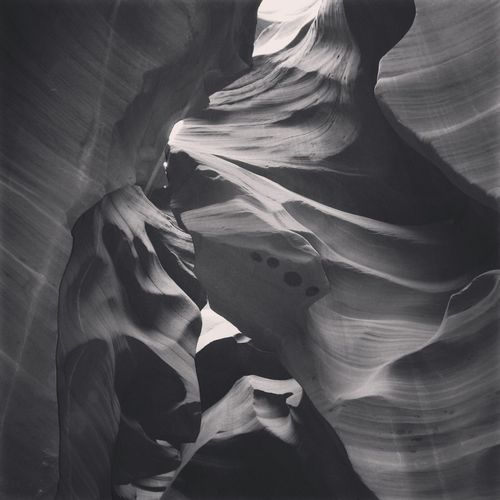 Antelope Canyon Blackandwhite Canyon Landscape Light And Shadow