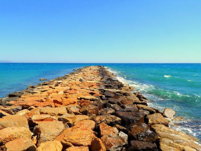 Espigón de la playa del Campello para evitar oleajes. Somosfelices Españoles Y Sus Fotos EyeEm Nature Lover Landscape_Collection