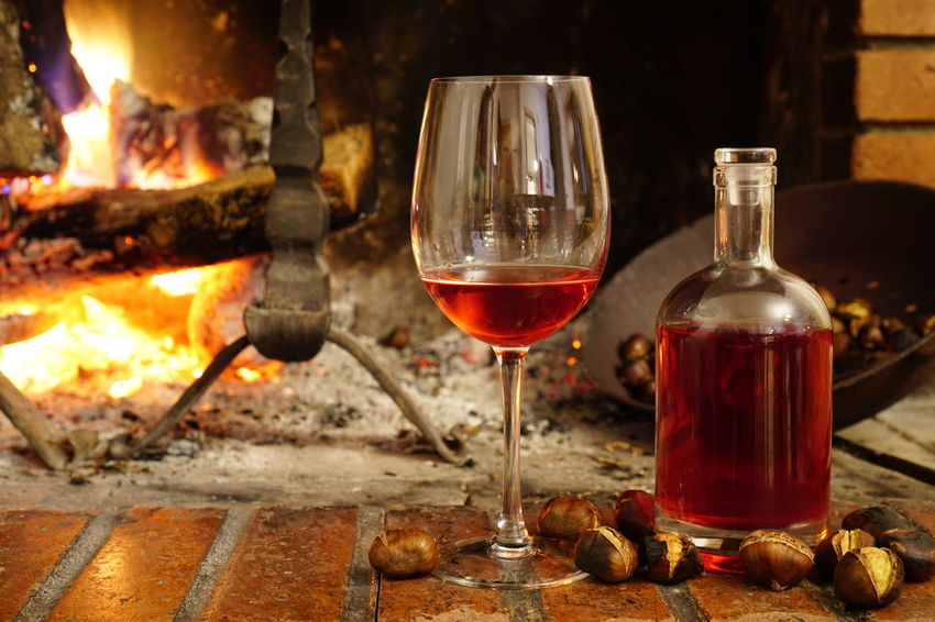 Abruzzo Alcohol Chestnuts Chestnuts And Wine Close-up Drinking Glass Fire No People Perano Red Wine Wine Wine Cask Wine Cellar Wine Glass Wineglass Winetasting