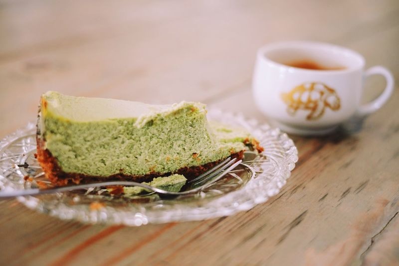 Cheese Cake Espresso Coffee EyeEm Selects Food And Drink Food Plate Sweet Food Freshness Table Indoors  Dessert Close-up Cake No People