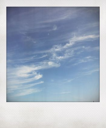 Cloud - Sky Sky Nature No People Beauty In Nature Tranquility Day Blue White Color Tranquil Scene Outdoors Scenics - Nature Low Angle View Backgrounds Auto Post Production Filter Idyllic Horizon Copy Space Full Frame Meteorology
