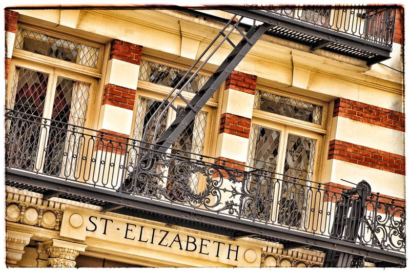 San Francisco Brickstone Building Ladders Text Communication Western Script Architecture No People Railing Metal New York City