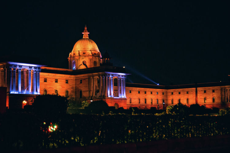 Best Of EyeEm India NarendraModi New Delhi Night Photography PMO Parliament Building Architecture Belief Best Photos For Sale Building Building Exterior Built Structure City Dome History Illuminated Narendra Nature Night No People South Block Travel Travel Destinations