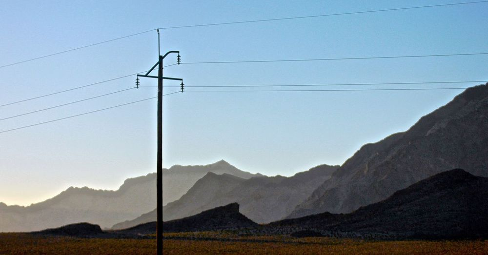 Clear Sky Electric Lines Electricity  Electricity Pylon Landscape Landscape_Collection Mountain Range Mountain Silhuette Mountain View Outdoors Silhouette