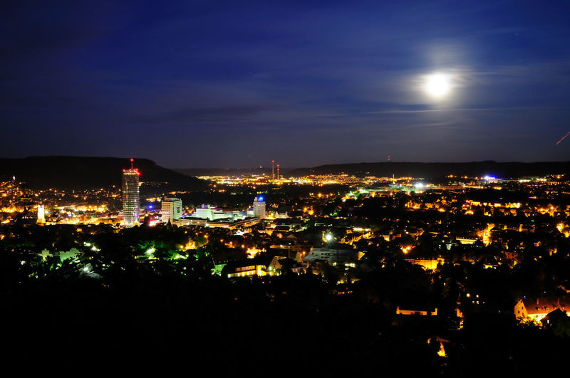 Jena at Night City City At Night Cityscape Jena Moon Moon Rising Architecture Building Exterior Built Structure City City Night City Night Lights Cityscape Cityscape Photography cityscapes Illuminated Moon Light Moonlight Nature Night No People Outdoors Sky View From Above View From Mountain