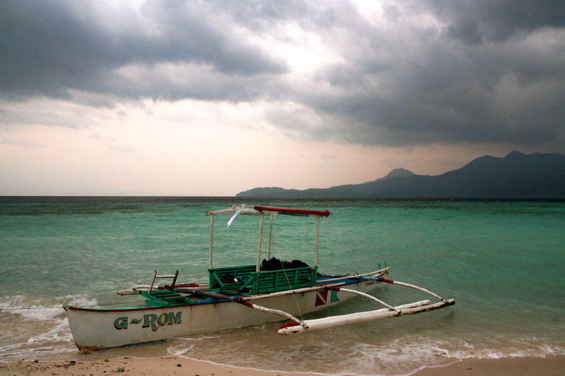 Banca Beauty In Nature Island Life Nature Outdoors Philippines Sea Sky Storm Cloud