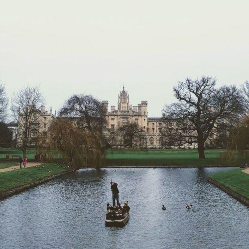 Cambridge Cambridgeshire Punting Uk River Riverside College Trinity College Trinity Kingscollege Beautiful