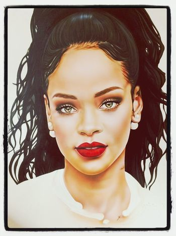 Rihanna Hot Drawing Beautiful