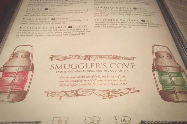 Rum time! Heaven Menu Bars Cocktails San Francisco Smugglers Cove