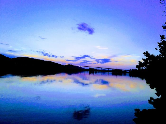 Cooks Landing Arkansas River Arkansas Sunset Arkansas Outdoors Reflection Water Sky Cloud - Sky Nature Lake Beauty In Nature Silhouette Scenics Tranquil Scene Outdoors Tranquility No People Sunset Tree Mountain Day
