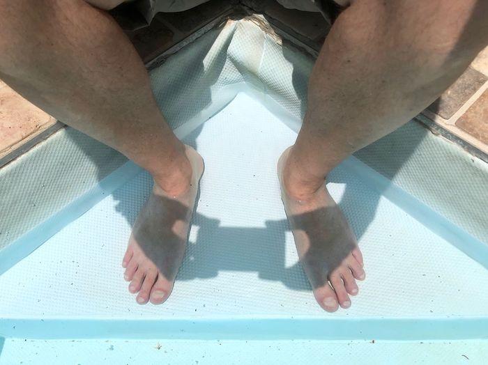 Sitting on pool