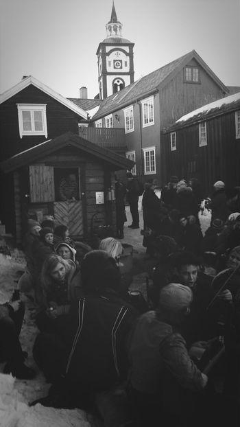Rørosmartnan Svarthvitt Kirke Sør-trøndelag