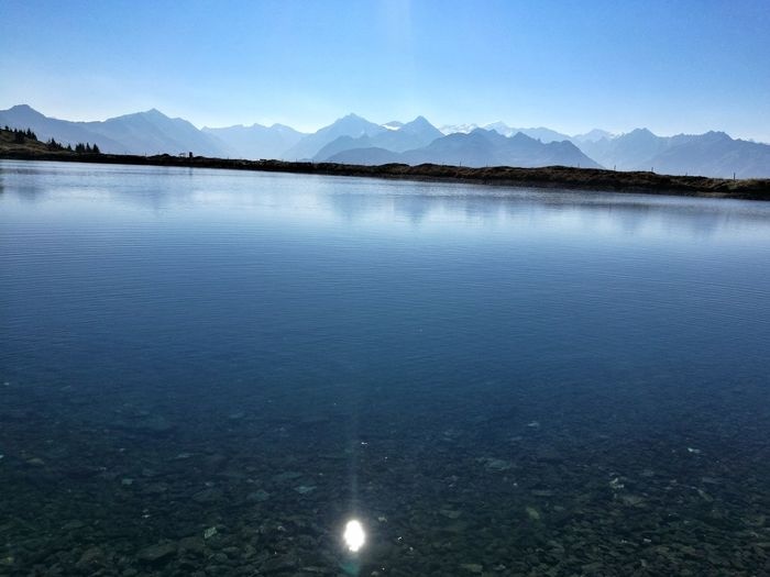 Bergsee Warm Herbst Wunderschön Traumtag Outdoors Nature Happy Cold Water Hike Water Mountain Tree Clear Sky Lake Blue Snow Cold Temperature Salt - Mineral Outdoor Pursuit