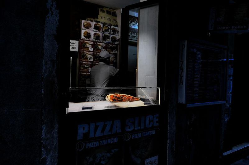 Food on display at store