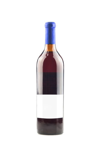 White Background Studio Shot Bottle Container Drink Food And Drink Wine Alcohol Wine Bottle Cut Out Copy Space Indoors  Refreshment Glass - Material Still Life Close-up Single Object Label No People Red Wine Glass Black Background Blank