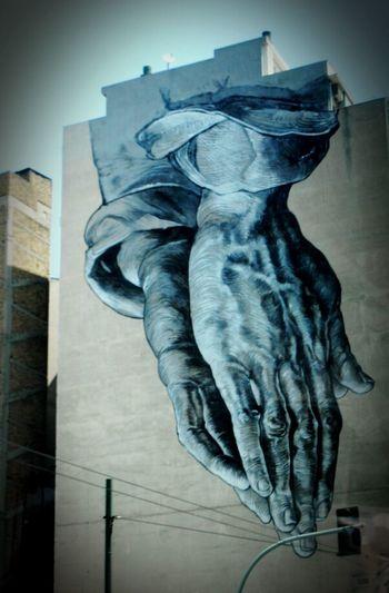 Street Art Hands Wall Art