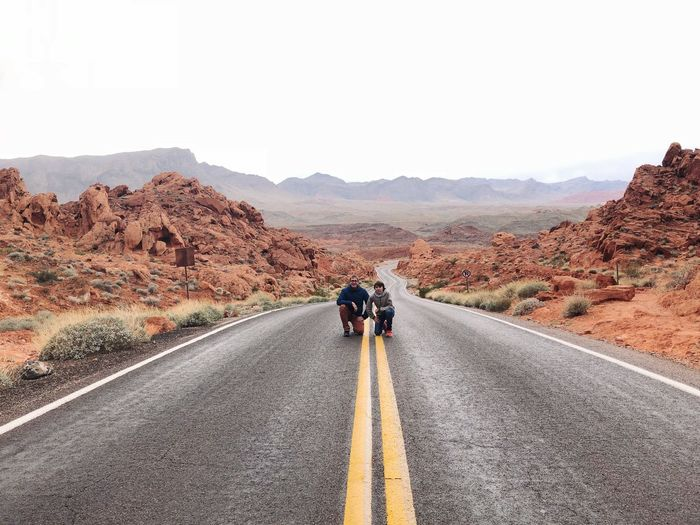 Valley of fire, Nevada, road trip Road The Way Forward Direction Transportation Full Length Symbol Summer Road Tripping Nature Mountain Scenics - Nature Travel Landscape Beauty In Nature The Traveler - 2018 EyeEm Awards