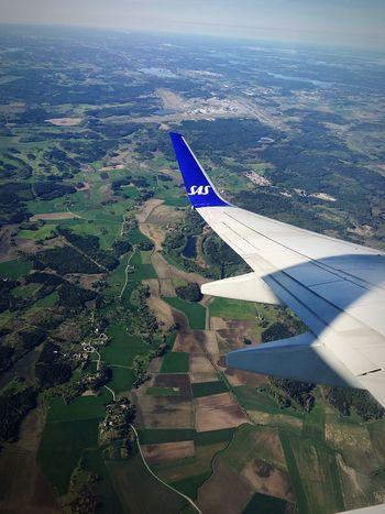 Stockholm Arlanda Airport Traveling Flying Airplane Sas