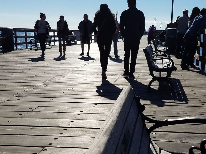 Beach Street Photography Leisure Activity Real People People Togetherness Outdoors Pier White Space Fine Art Photograhy Shadow And Light Still Life Photography Patterns Everywhere EyeEm Best Shots - Nature Beauty In Nature Pattern Design Check It Out Copy Space