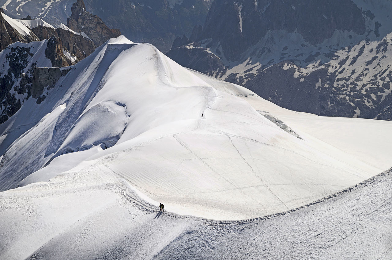 Scenic view of mont blanc during winter