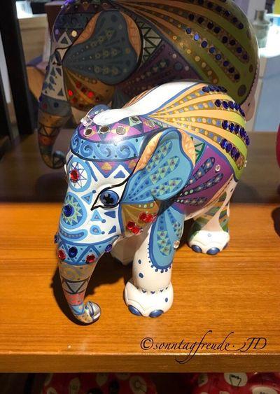 Mosaic Wings by Yansuwat Intatong Vibrant Color Multi Colored Photography Travelingherd2016 Dosomething Art Mosha Elephantparade Elephant IPhoneography EyeEm Eye4photography  Mosaic 7thru5shadesof21 🐇