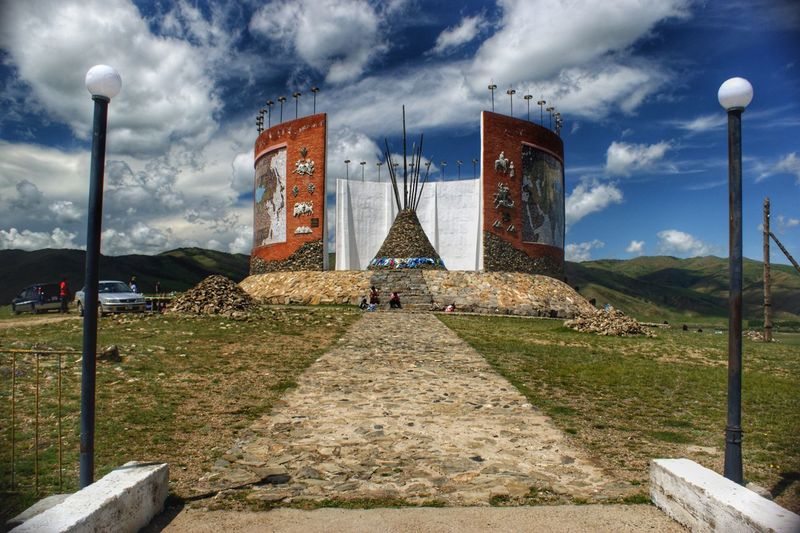 Monument Mongolia Монгол улс Outdoors Day Sculpture Statue City Religion Sky Architecture Cloud - Sky Built Structure Grass Memorial Historic Civilization National Monument