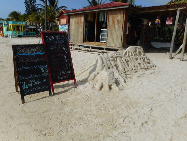 Honduras Roatan Architecture Bay Islands Beach Building Exterior Built Structure Day No People Outdoors Sand Text