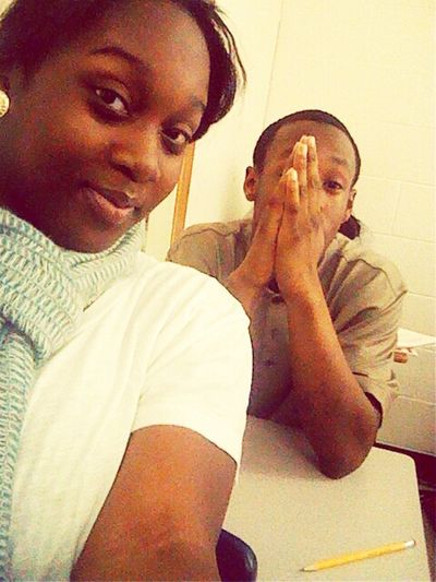 me and Tommy in class talking!!!